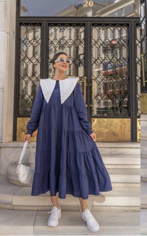 שמלת מרגו קומות כחול