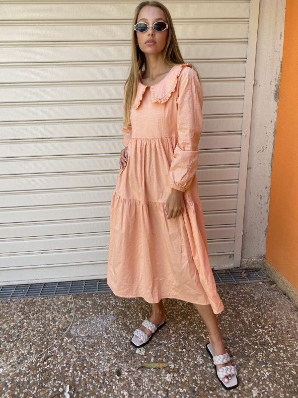 שמלת סטלה כתום
