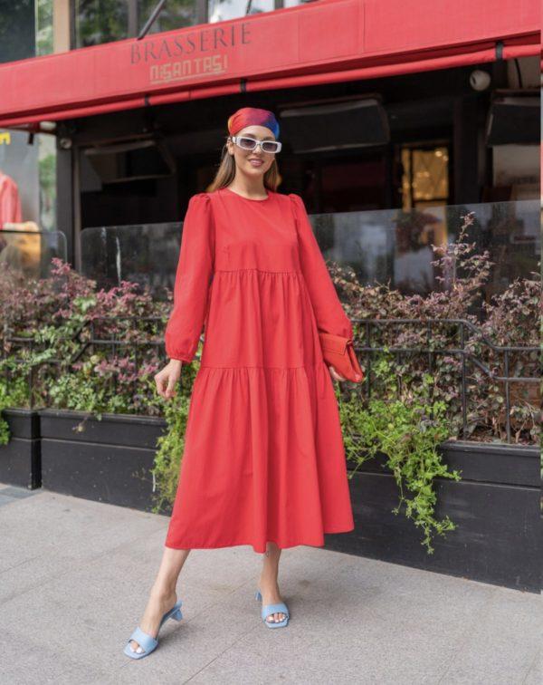 שמלת בל אדום