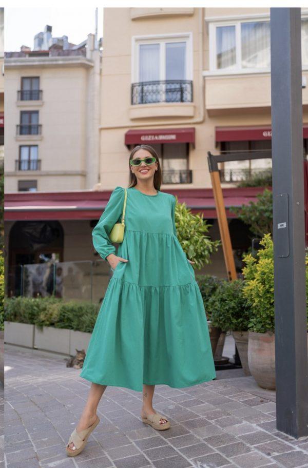 שמלת בל ירוק
